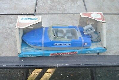 Vintage Process Plastic Co. Evinrude XP Outboard Boat Toy Plastic in Box