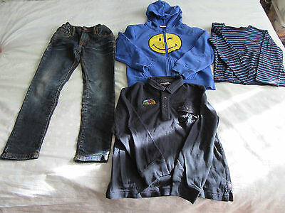 Lot Garcon - Taille 7 Ans - 2 T-Shirts + 1 Jeans + 1 Sweat - Chicco+Sgt Major...