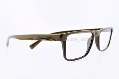 7efa6047bae2 Armani Exchange Ax 3011 8086 52Mm Brown Frame With Clear Demo Lenses  Authentic