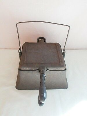 Antique Wagner Ware Cast Iron Waffle Maker High Base - July 26  1892