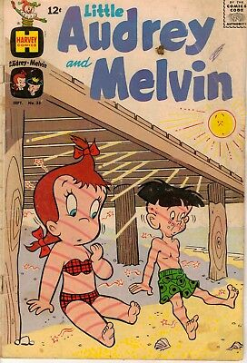 Little Audrey And Melvin #35 - Sept. 1968 - Harvey Comics - Silver Age Fun