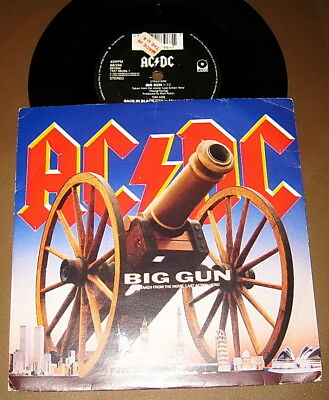 "AC/DC ‎– Big Gun - 7"" 45 - ATCO UK - MOVIE TRACK + LIVE - 1993"