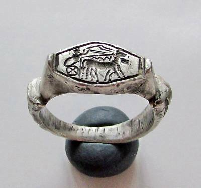 Ancient Roman republic Legionary Silver Ring.RARE.