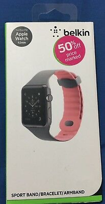 100% Authentic New Belkin Sport Band for Apple Watch & Series 1 2 3 42mm - Pink