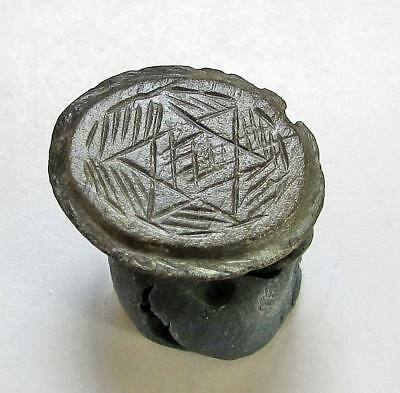 ANCIENT ROMAN  BRONZE RING. Star  ENGRAVED.