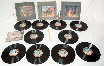 Rare Small Vintage Toy Little Tots 78 Rpm Phonograph Gramophone Player Records