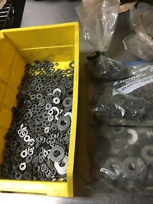 Steel Flat Washers  - (Lot Of 200 +) -  New Old Stock