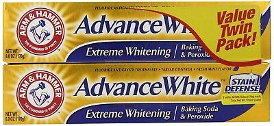 2x Arm and Hammer Advance White Extreme Whitening Baking Soda And Peroxide 6 oz