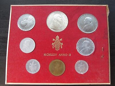 1964 Anno II Vatican City Mint Set w/Silver 500 Lire