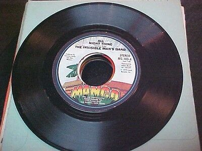 THE INVISIBLE MAN'S BAND 45 Mango 1970's SOUL DISCO DANCE ROCKER all night thing