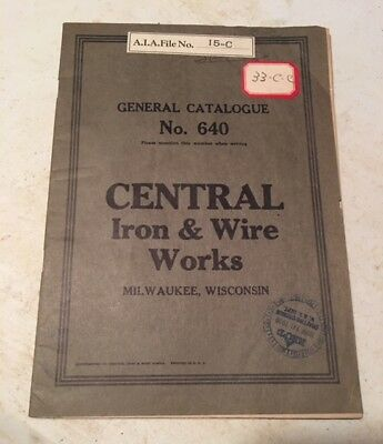 1929 Central Iron & Wire Works Store Front Architecture Catalog