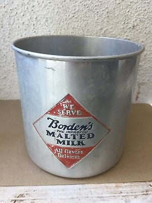 Vintage Bordon's Malted Milk Advertising Can