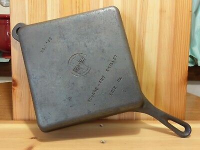 Griswold Square Fry Skillet 768 Small logo cast iron