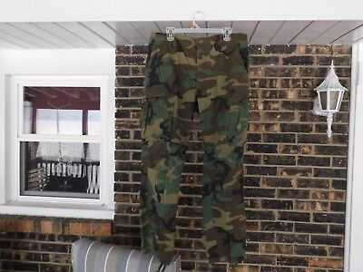 U.s. Army Military Woodland Camo Hot Weather Combat Pants Trousers Large-Regular