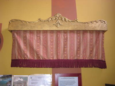 Gold Wood and gesso Drapery valance/ cornice pediment Victorian/French Style