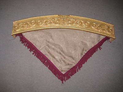 ARCHED Gold Wood & gesso Drapery valance/cornice pediment Victorian/French Style