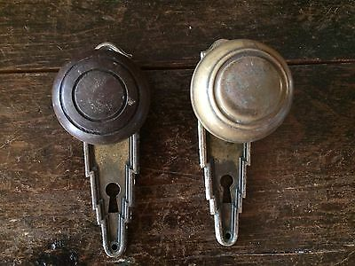 Shabby Chic Antique Glass Door Knobs Face Plates #3