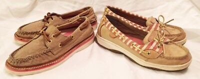 Boat Shoes Girl Size 3 Sperry Top-sider Boat Shoes KIDS LOT 2 PAIR Slip On Shoes