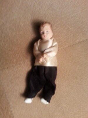 "Vintage Sweet Little Paper Mache or Composition 3.5"" Baby Doll"