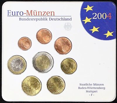2004 Germany Euro Mint Set -F- Stuttgart Wurttemberg Priced Right!!