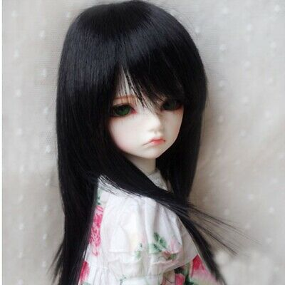 "[PF] 15# Black Long Straight Hair Wig 1/6 SD AOD DOD BJD Dollfie 6""-7"""