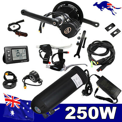 36V 250W Mid Drive Central Motor Electric Bike Conversion Kit Ebike W' Battery