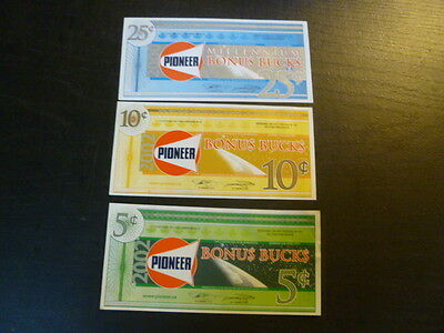 Pioneer Gas Bar Money - 5 - 10 and 25 cents