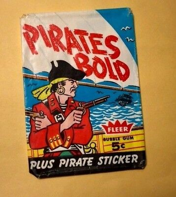 Very Rare 1961 Fleer Pirates B Old 5 Cent Wax Pack Wrapper.-In  Nice Condition