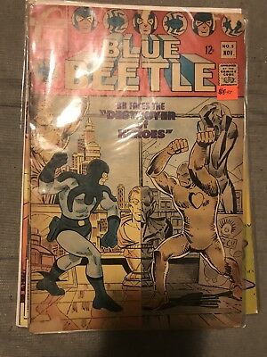 Blue Beetle #5 Silver Age Charlton Comics BB Faces The Destroyer Of Heroes