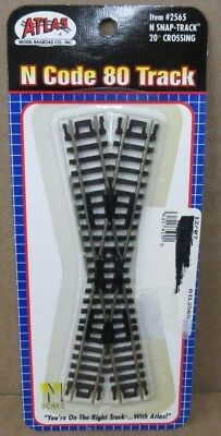 Atlas 2565 N Scale Code 80 Snap Track 20° Crossing NIP