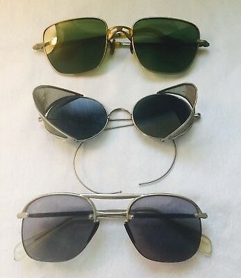 VINTAGE Lot of 3 VARIOUS Shapes and Tints SUNGLASSES SPECTACLES AS-IS-AS-SHOWN