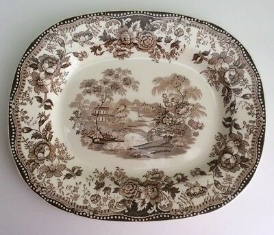 Vintage TONQUIN Brown Serving Platter Royal Staffordshire Clarice Cliff England
