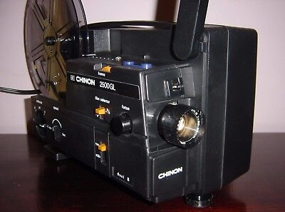 CHINON 2500GL DUAL 8 Super 8 / Reg 8mm PROJECTOR ADJUSTABLE SPEED ~SERVICED~