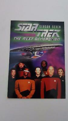 Star Trek TNG The Next Generation Season 7 promo card