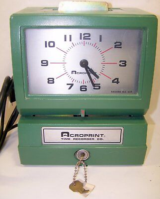 Acroprint Time Clock 125NR4  -parts-