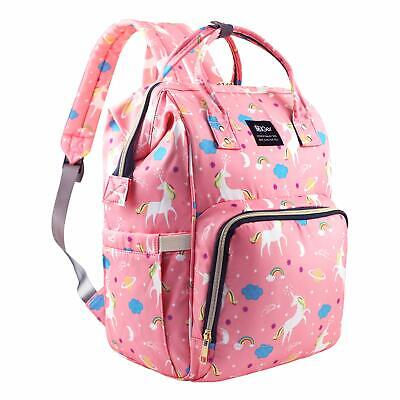 Unicorn Diaper Bag MultiFunction Waterproof Travel Backpack Nappy Bags Baby Care