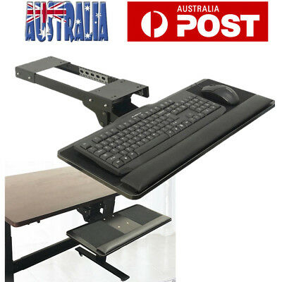 Keyboard Drawer Tray Height Angle Tilt Adjustable 360 Rotation Home Office AU