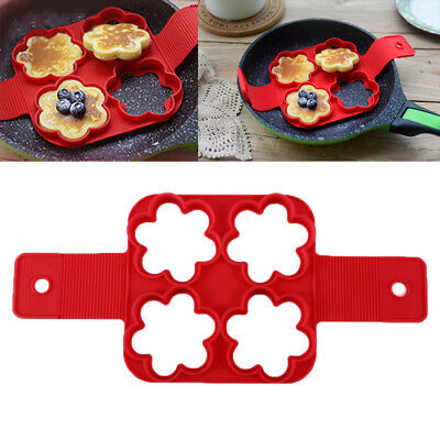 Egg Ring Maker Nonstick Pancake Maker And For Kitchen Made Of Silicone Mould MS5
