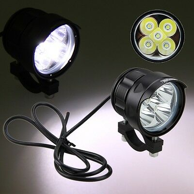 2x5000LM 5x XM-L2 50W LED Moto Boat Spot Driving Headlight Fog Light Lamp 4V-84V