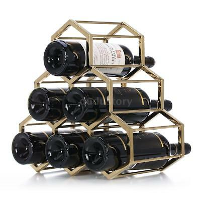 Honeycomb Wine Rack Metal Wine Holder Innovative6 Bottle Rack Design Free Q2N9
