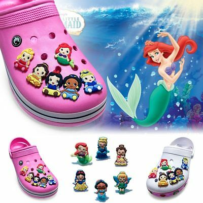 2pcs Princess PVC Shoe Charms Kid Shoe Accessories/Decor Fit Bracelets Croc JIBZ