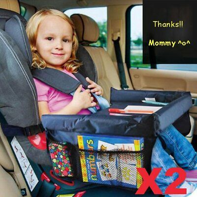 2X Portable Safety Kids Baby Car Seat Travel Tray Activity Drawing Board Table H