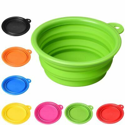 Portable Collapsible Silicone Dog Cat Pet Travel Feeding Bowl Water Dish Feeder