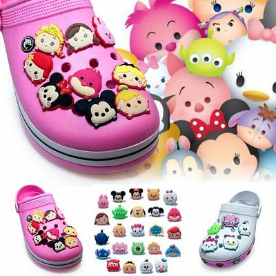 2pcs Tsum Tsum PVC Shoe Charms Shoe Accessories/Decor Fit Bracelets Croc JIBZ