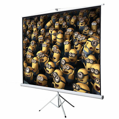 """New 100"""" Tripod Portable Projection Screen Square 70x70 Projector Stand Office"""