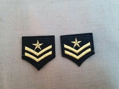 2 X MILITARY PATCH WITH STAR army NAVAL MILITARY AIRFORCE