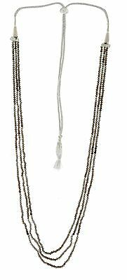 Natural Smoky Quartz Gemstone Faceted Machine Cut Roundel Beads Necklace Gsn28
