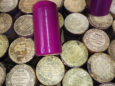 Edison Blue Amberol ROYAL PURPLE Record Cylinder #29022 Excellent Condition &Lid