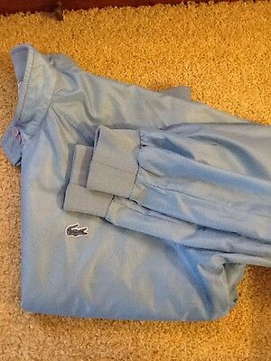 Vintage Izod Lacoste For Her Outerwear Baby Blue Size Large Wind Breaker