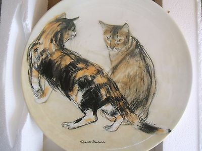 New Boxed With Certificate Elizabeth Blackadder Cat Plate Kikko And Rosie